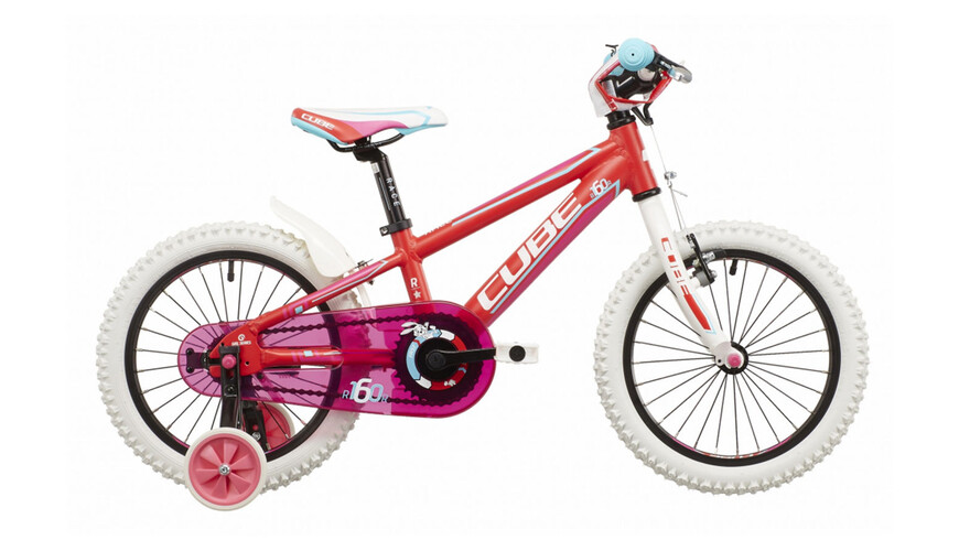 Cube Kid 160 - Vélo enfant - Girl rose/rouge